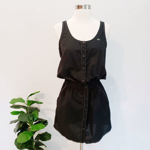 Lacoste Snap Front Dress Black Sporty Athletic S
